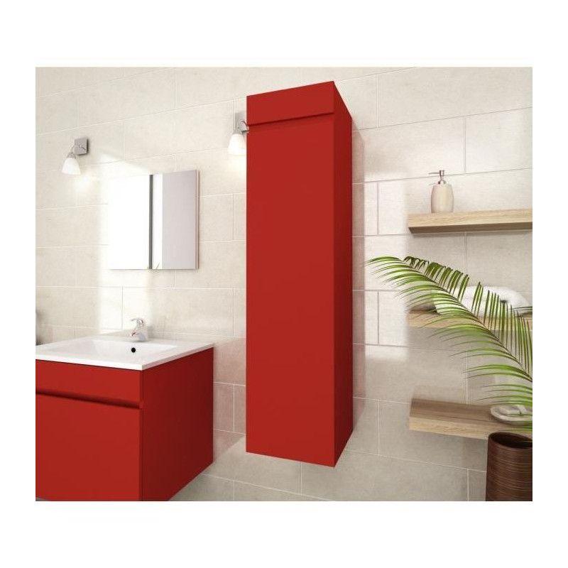 luna colonne de salle de bain l 30 cm rouge mat. Black Bedroom Furniture Sets. Home Design Ideas