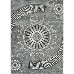 BAHIA Tapis de salon 200x290 cm gris et noir