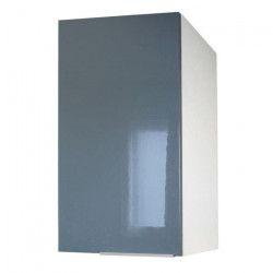 POP Meuble haut de cuisine L 40 cm - Gris brillant