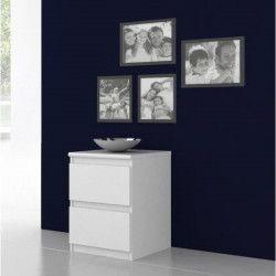 FINLANDEK Chevet NATTi contemporain blanc mat - L 42 cm