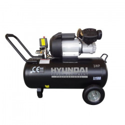 HYUNDAI Compresseur d`air 100L 3CV bicylindre HC100L