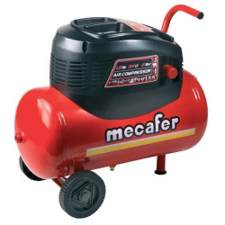 MECAFER Compresseur d`air horizontal 24L 1,5HP Oil