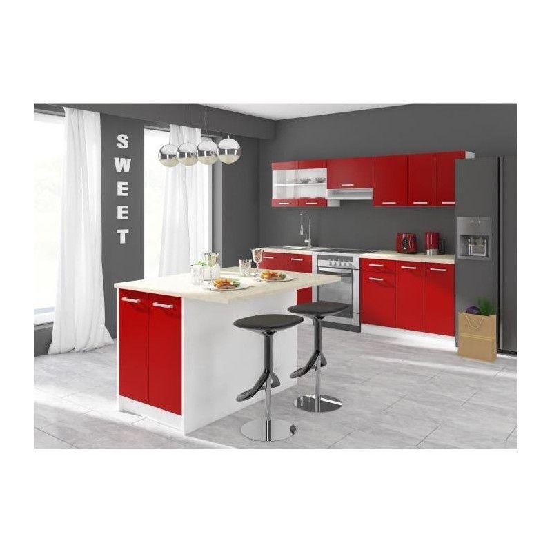 Ultra ilot de cuisine l 100 cm avec plan de travail - Plan de travail cuisine largeur 100 cm ...