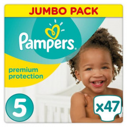 PAMPERS Premium Protection Taille 5 11-23 kg - 47 Couches