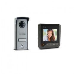 EXTEL Visiophone Look 2 fils gris avec écran couleur 4` vision nocturne