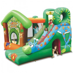 HAPPY HOP Château - Aire de jeux gonflable Jungle Fun