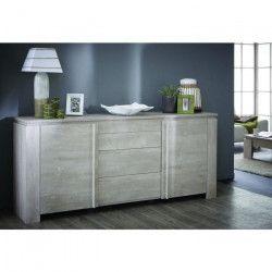 SEGUR Enfilade style contemporain décor chene et gris - L 205 cm