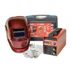 TECNOWELD Poste a souder Inverter ES 4000 160A avec cagoule LCD teinte variable 9/13 et accessoires