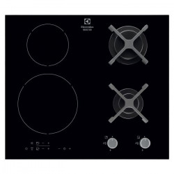 ELECTROLUX EGD6576NOK - Table de cuisson mixte gaz / induction - 4 zones - 4800W et 3700W - L59 x P52cm -