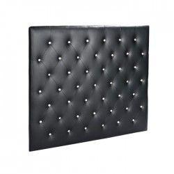 SOGNO Tete de lit adulte 140cm PU bouton cristal