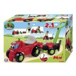 ECOIFFIER JARDIN Tracteur Porteur Remorque + Tondeuse