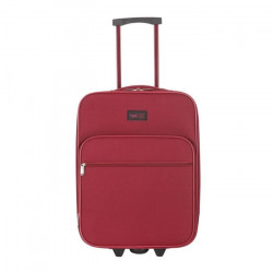 CABINE SIZE Valise Low Cost 2 Roues 50 cm BROWALLIA Rouge