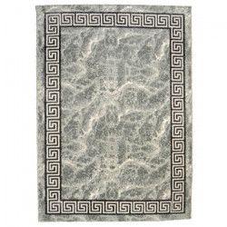 BAHIA Tapis de salon 200x290 cm gris, noir et or