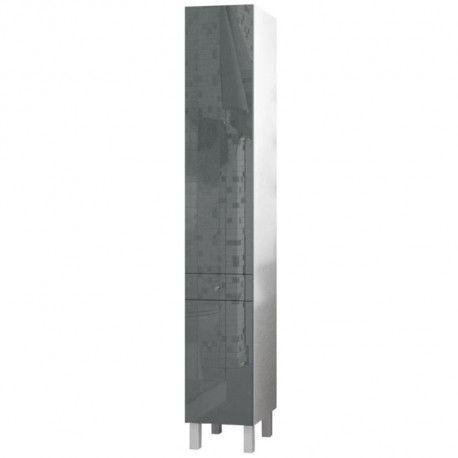corail colonne de salle de bain l 30 cm gris laqu. Black Bedroom Furniture Sets. Home Design Ideas
