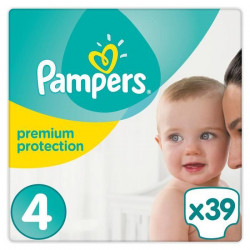 PAMPERS Premium Protection Taille 4 8-16 kg - 39 Couches