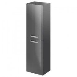 STELLA Colonne de salle de bain L 40 cm - Laqué gris brillant