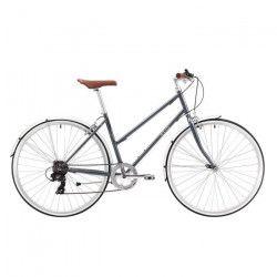 REID Vélo vintage Esprit 7 vitesses - Femme - Noir Charbon - Taille MEDIUM