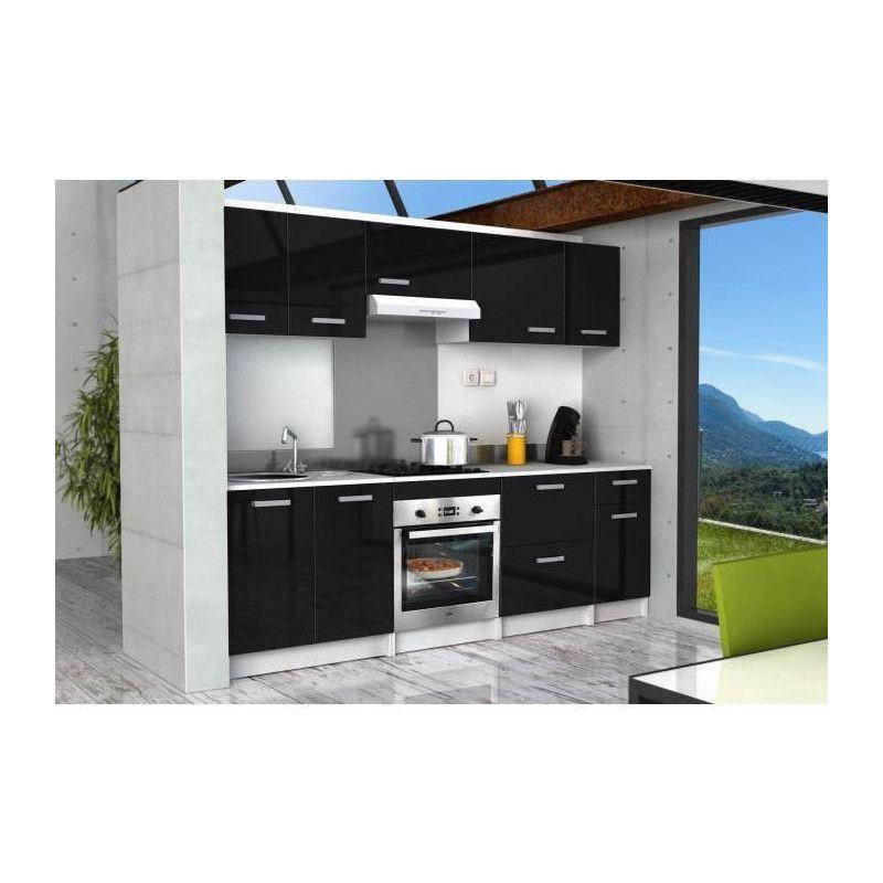 start caisson haut de cuisine sur hotte l 60 cm noir. Black Bedroom Furniture Sets. Home Design Ideas