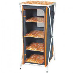 TRIGANO Meuble de rangement pliant - Gris et orange tangerine