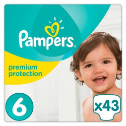 PAMPERS Premium Protection Taille 6 15+ kg - 43 Couches