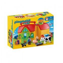 PLAYMOBIL 1.2.3 - 6962 - Ferme Transportable Avec Animaux