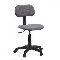 PIKTO Chaise de bureau dactylo - Tissu gris - L 38 x P 40 cm