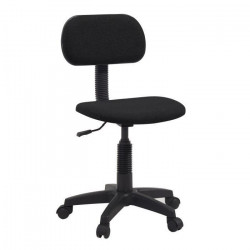 PIKTO Chaise de bureau dactylo - Tissu Noir - L 38 x P 40 cm