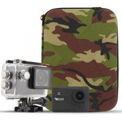 T`NB Pack Caméra sport 4K WiFi - Capteur CMOS 16 mégapixels + Malette design Army