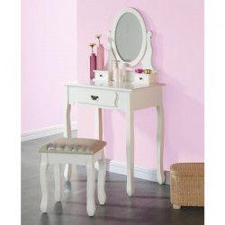 MANON Coiffeuse romantique blanc - L 75 cm