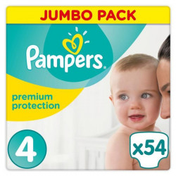 PAMPERS Premium Protection Taille 4 8-16 kg - 54 Couches