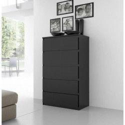 FINLANDEK Commode de chambre NATTI style contemporain noir mat - L 78 cm