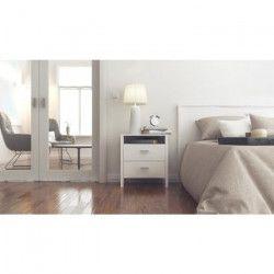 SEATTLE Chevet contemporain décor méleze clair - L 54 cm