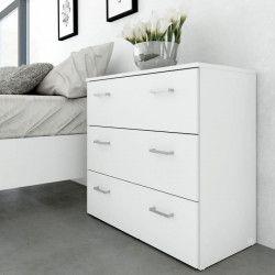 SPACE Commode de chambre style contemporain blanc - L 74 cm