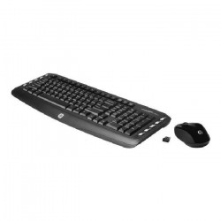 HP Clavier et souris sans fil - Wireless Classic Desktop - International English - Clé électronique USB 2,4 GHz -