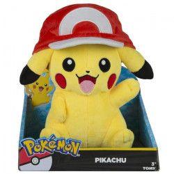 Peluche Pokemon Maxi Pika Casquette Sacha