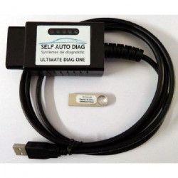 Valise diagnostic multimarques ULTIMATE DIAG ONE - Interface diagnostique multimarque OBD et logiciel SELF AUTO