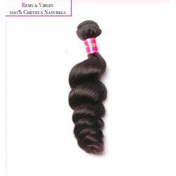 KNJ HAIR Tissage brésilien - Cheveux humains - Ondulé tombant 14`` - Noir naturel