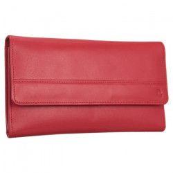 SILVERCAT Compagnon - Cuir de vachette - 19x12 cm - Rouge - Femme