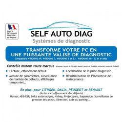 Valise diagnostic auto ULTIMATE DIAG ONE - Interface diagnostique multimarque OBD et logiciel SELF AUTO DIAG