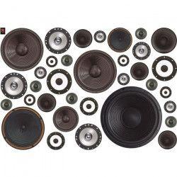 PLAGE Sticker déco - Sound wall1 Planche 70x100 cm