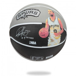 SPALDING Ballon de basket-ball NBA Player Tony Parker - Gris et noir - Taille 7