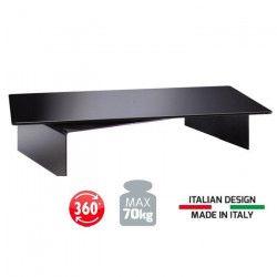 MELICONI Rotobridge Support TV - Poids max 70 Kg - Base pivotante - Noir