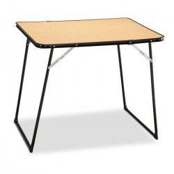 EREDU Table Pliante camping 807/Ds - 80 x 60 cm - Marron et Noir camping