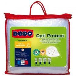 DODO Couette tempérée 300g/m² OPTI-PROTECT 140x200 cm blanc