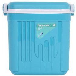 FINLANDEK Glaciere - Isolation coque et couvercle 12H - Bleu turquoise - 20 L