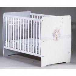 SOPHIE LA GIRAFE Lit a barreaux bébé 60x120 cm