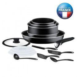 TEFAL INGENIO ESSENTIAL Batterie de cuisine 15 pieces L2009502 16-18-20-26cm noir Tous feux sauf induction
