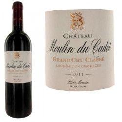 Château Moulin du Cadet 2011 Saint Emilion Grand Cru - Vin rouge de Bordeaux