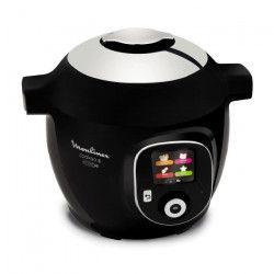 MOULINEX CE855800 Multicuiseur intelligent Cookeo + Connect avec 150 recettes pré-programmées - Noir