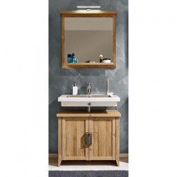 CANYON Ensemble salle de bain simple vasque L 75 cm - Décor chene doré